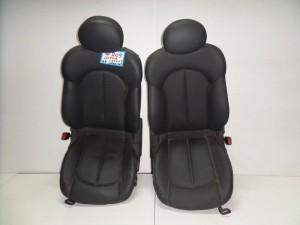 Mercedes clk w209 2002-2009 κάθισμα εμπρός με airbag αριστερό-δεξί γκρί σκούρο (δερμάτινα)