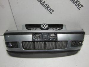 VW Polo 1999-2002 προφυλακτήρας εμπρός ασημί