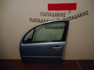 Citroen C3 2003-2010 πόρτα εμπρός αριστερή γαλάζια