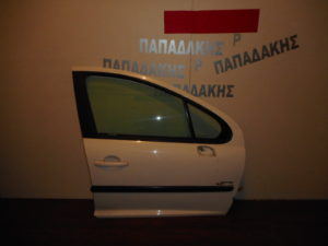 Peugeot 207 2006-2012 πόρτα εμπρός δεξιά άσπρη