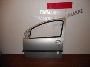 Toyota Aygo/Citroen C1/Peugeot 107 2006-2014 πόρτα εμπρός αριστερή ασημί